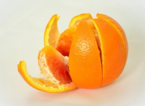 indigestion cure-orange peel